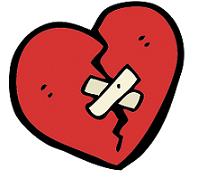 Bild eines Gebrochenen Herz